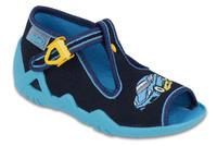 217P100 18 - chl.sandálek,tm.modrá,auto