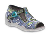 217P092 18 - dět.sandálek, šedá, formule a autíčka