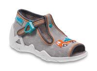 217P089 18 - dět.sandálek, šedé, auto