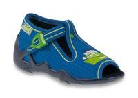 217P094 18 - chl.sandálek, modrá, zelený bagr