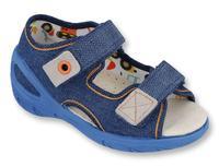 065X126 26 - SUNNY chl. sandálky, modrá