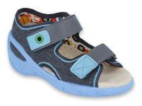 065X125 26 - SUNNY chl. sandálky, tmavě šedá