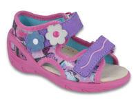 065X120 26 - SUNNY dív.sandálky, růž-fial, kytičky