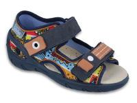 065P117 20 - SUNNY chl.sandálky,modrá,barevný vzor
