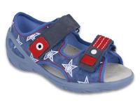 065X119 26 - SUNNY chl.sandálky, modrá,hvězdy