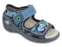 433P028 20 - SUNNY - chl.sandálky,šedo-modrá, auto