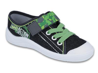 251X102 25 - chl. šněr.tenisky1SZ, černo-zelená