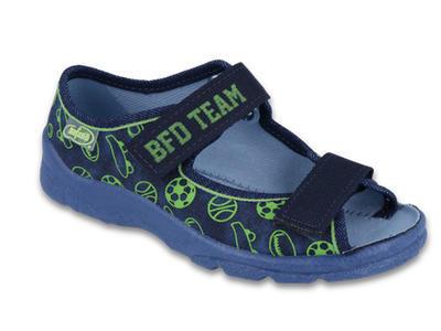 969X124 25 - chl.sandálek s patou, modrý, BFD TEAM