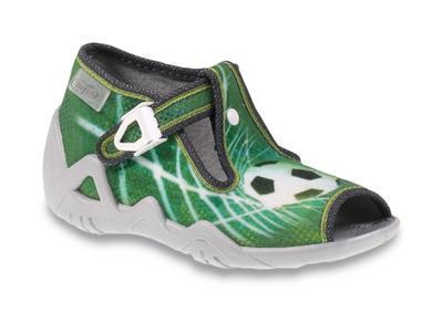 217P093 18 - dět.sandálek, zelená, fotbalový míč