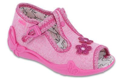 213P109 18 - dív.sandálek, růžová, kytičky