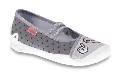 116Y235 31 -dív.níz.,2 gumky,šedá+tečky,nápis HAHA