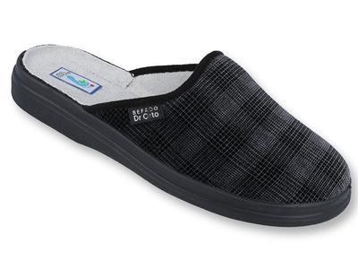 125M011 42 - Dr. ORTO - pantofle pánské šedé káro