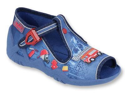 217P101 18 - chl.sandálek, modrá, hasiči