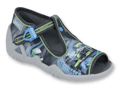 217P102 18 - chl.sandálek, šedá, formule F1