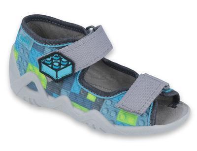 250P093 18 - chl.sandálek 2SZ, modrá, lego