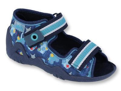250P090 18 - chl.sandálek 2SZ, modrá, hasiči