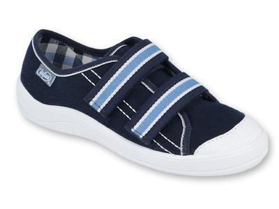 672Y049 31 - chl. tenisky,2 SZ, tm.modrá, modré SZ