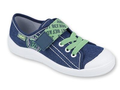 251Y128 31 - chl.tenisky,1 SZ, modrá se zelenou