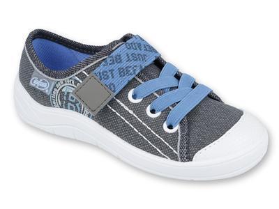 251Y129 31 - chl.tenisky,1 SZ, šedá s modrou