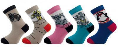 1514 (58S) dětské ponožky s obrázky, 12-13 (18-20)