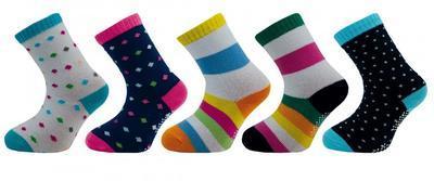 1513 (54N) dívčí ponožky s ABS, 12-13 (18-20)