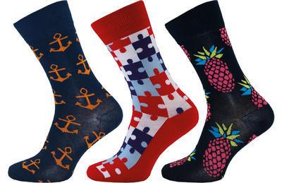 1003 - Happy Socks KOTVA, vel. 24-26 (37-39)