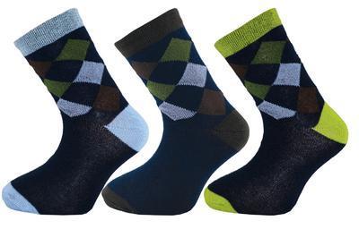 1501 B - Happy Socks káro, 16-17 (24-26) vzor B