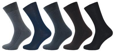 1060 - LUX - ponožky ŽEBRO, 24-25 (37-38)