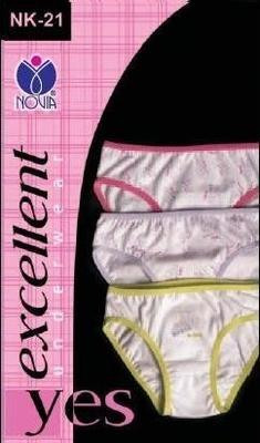 NK-21 dívčí kalhotky s potiskem (3 pack), vel. 104