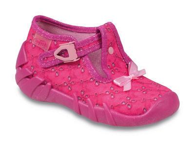 110P218 22 - dívčí přezka, růžová, mašlička