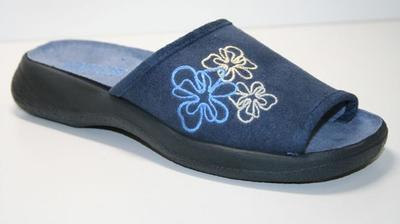 442A114 36 - OLIVIA OŠ - modrá, kytky