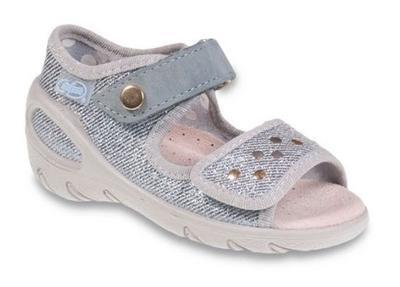 433P018 23 - SUNNY - dív.sandálky, stříbrná,cvočky