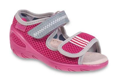 433X015 28 - SUNNY - dív.sandálky, růžová síť