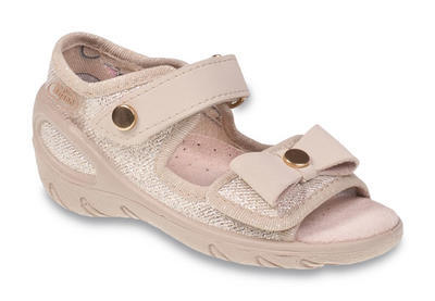 433X019 26 - SUNNY - dív.sandálky, zlatá, mašle
