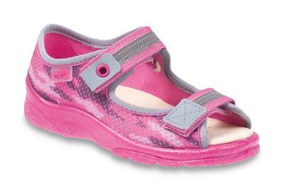 969X112 25 - dív.sandálek s patou,růžový mask.,kož