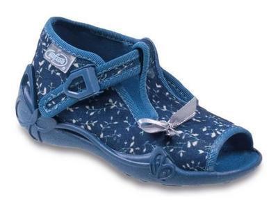 213P075 25 - dív.sandálek, tm.modrá, mašlička