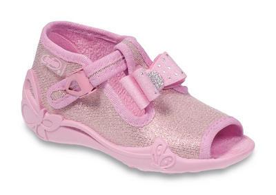 213P094 25 - dív.sandálek, růžová,lesklá, mašlička