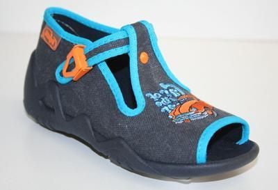 217P022 18 - dět.sandálek-SNAKE,šedo modrá,or.auto