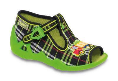 217P042 18 - dět.sandálek-SNAKE, káro zelené