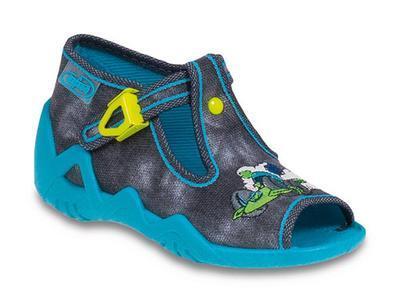 217P060 18 - dět.sandálek-batika šedočerná,motorka