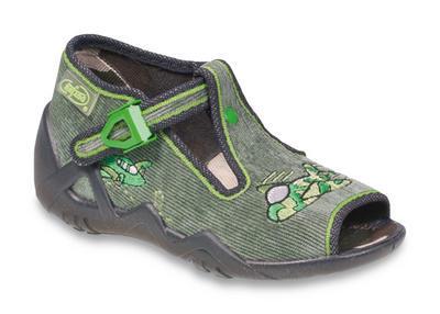 217P086 20 - dět.sandálek,šedozelená,letadlo
