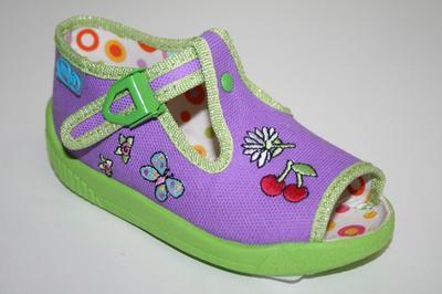 631P203 18 - dív.sandálek, fialová, třešně