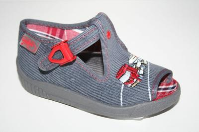 631P235 18 - chl.sandálek, šedý, kamion