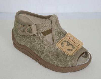 """947B123 18 - chl.sandálek,béž.,""""3"""",nášivka BEFADO"""