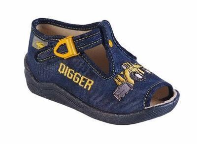 947B141 18 - chl.sandálek, modrá, bagr, DIGGER