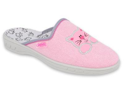707Y409 31 - JOGI dívčí pantofle růžové, ZŠ, kočka