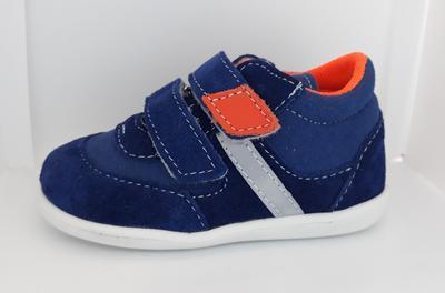 JONAP 051SV light 18 - dět.kož.SZ, modrá s oranž.