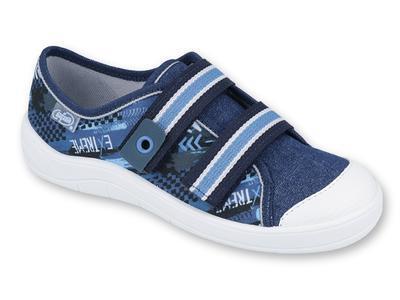 672Y068 31 - chlapecké tenisky 2 SZ modré, nápis