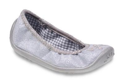 980X086 25 - dívčí nízká, stříbrná, mašlička