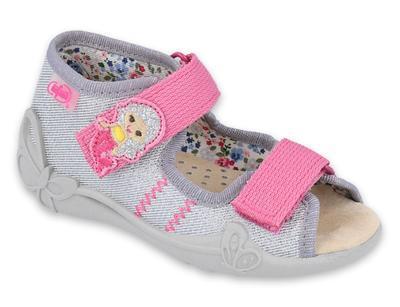 342P012 18 - dívčí sandálky, kožená stélka, víla